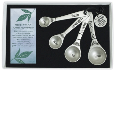 Amazing Woman 4 Measuring Spoons - Unique Catholic Gifts
