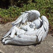 "6""H Baby Sleeping in Wings Garden Statue - Unique Catholic Gifts"