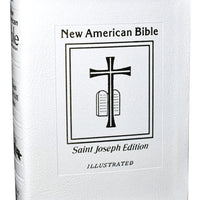 St. Joseph N.a.b. (Deluxe Gift Edition - Medium Size) White - Unique Catholic Gifts