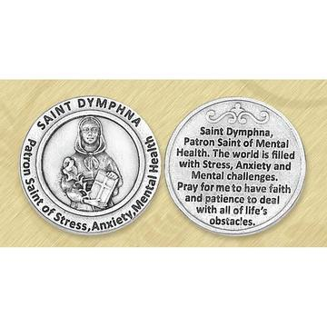 St. Dymphna Italian Pocket Token Coin - Unique Catholic Gifts
