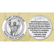 St. Peregrine Italian Pocket Token Coin - Unique Catholic Gifts