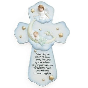 "Sweet Dreams Angel Wall Cross (7"") - Unique Catholic Gifts"