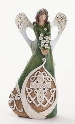 Irish Angel Woodcut Figurine / Statue 7