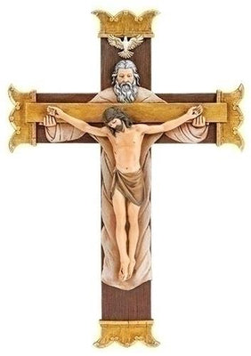 Holy Trinity Hanging Wall Crucifix (10.25