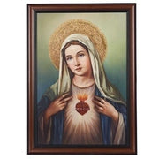 "Immaculate Heart of Mary Framed Picture( 27"") - Unique Catholic Gifts"