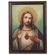 "The Sacred Heart of Jesus Framed Art ( 27"") - Unique Catholic Gifts"