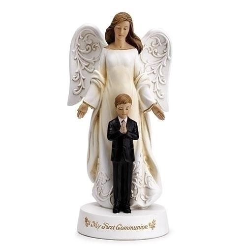 First Communion Angel with Praying Boy