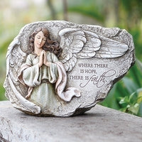 "8.25""H Praying Angel Garden Stone - Unique Catholic Gifts"
