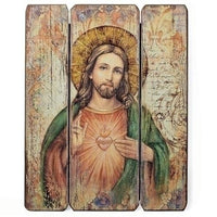"Sacred Heart of Jesus Wall Panel 15"" - Unique Catholic Gifts"