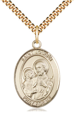 Gold Filled St Joseph Pendant (3/4