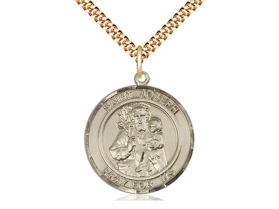 Helen Pendant with 18 Gold Filled Lite Curb Chain Patron Saint of Difficult Marriages 14kt Gold Filled St