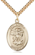 "Gold Filled St. Michael the Archangel  (3/4"") - Unique Catholic Gifts"