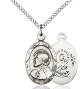 "Sterling Silver Scapular Medal 3/4"" - Unique Catholic Gifts"