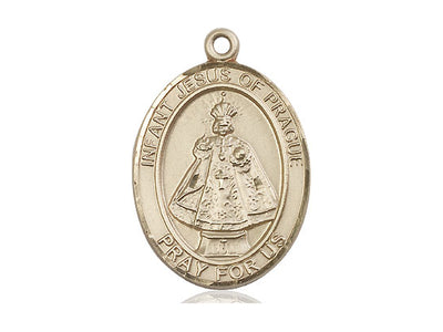 14kt Gold Filled Infant of Prague Pendant on a 24 inch Gold Plate Heavy Curb Chain - Unique Catholic Gifts
