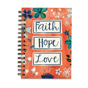 Faith Hope Love Wirebound Journal - Unique Catholic Gifts