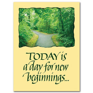 Today is a day for new beginnings Transfer/Moving Card - Unique Catholic Gifts