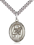 "St Agatha Sterling Silver Medal (3/4"") - Unique Catholic Gifts"