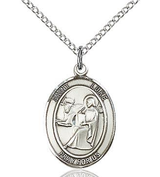 Sterling Silver St. Luke the Apostle Medal