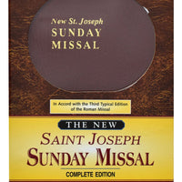New St. Joseph Sunday Missal, Complete Edition Imitation Leather, Brown - Unique Catholic Gifts