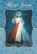 Divine Mercy Sympathy Greeting Card - Unique Catholic Gifts