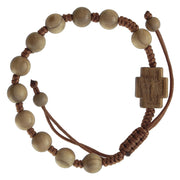 Olive Wood Rosary Bracelet (8 MM) - Unique Catholic Gifts