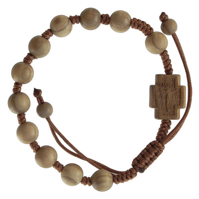 Olive Wood Rosary Bracelet (8 MM)