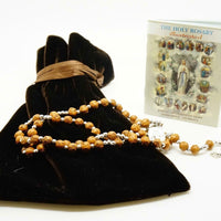"Wood Rosary,""Holy Rosary"" book, Bag - Unique Catholic Gifts"