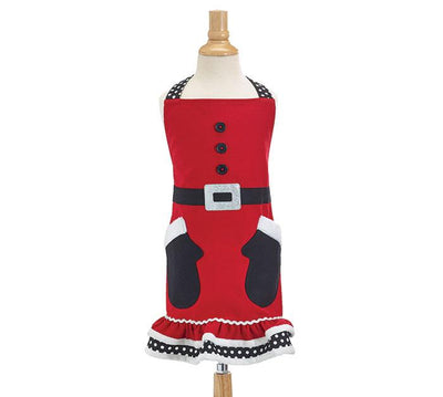 Santa's Mittens Christmas Apron (Childs) - Unique Catholic Gifts