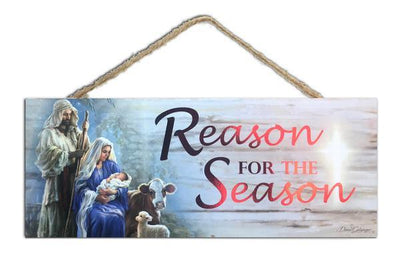 Reason for the Season Wood Sign (4 x 10