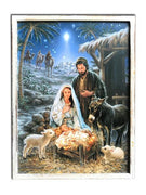 Shimmering Holy Night Fiber Optic Canvas Print