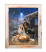 A Savior is Born Canvas Shadow Box - Unique Catholic Gifts