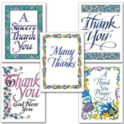 "Thank You Calligraphy Collection Assorted Thank You Cards (10 Cards  4.375 x 5.9375 "")"