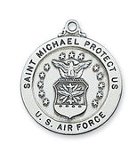 "Sterling Silver Saint St Michael Air Force Medal (14/16"") - Unique Catholic Gifts"