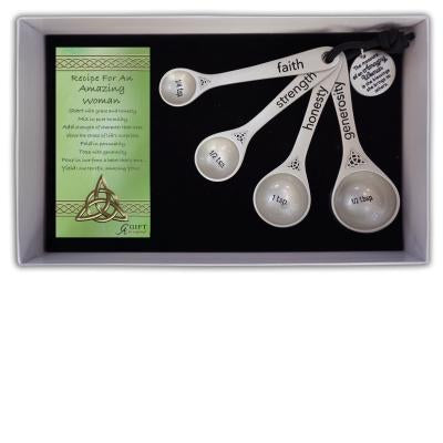 Amazing Woman 4 Measuring Spoons( Irish Edition) - Unique Catholic Gifts