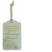 """Amazing Woman"" Gift Tag"