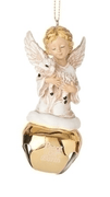 "Angel and the Lamb with Bell Ornament (3 3/4"")"