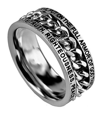 Chain Ring Armor of God - Unique Catholic Gifts