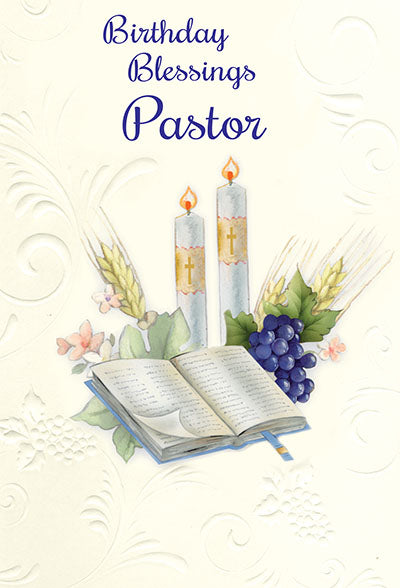 Birthday Blessings Pastor Greeting Card - Unique Catholic Gifts