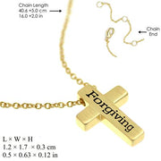 Gold Forgiven Cross Necklace - Unique Catholic Gifts