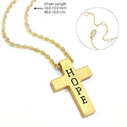 Gold Hope Cross on a Gold Chain - Unique Catholic Gifts