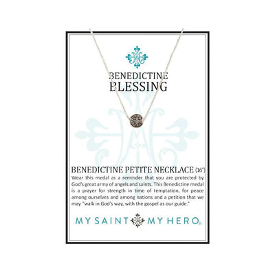 Benedictine Petite Necklace Silver with Silver chain