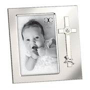"Baptism Frame Cross and Lamb  (holds 4 x 6"") - Unique Catholic Gifts"