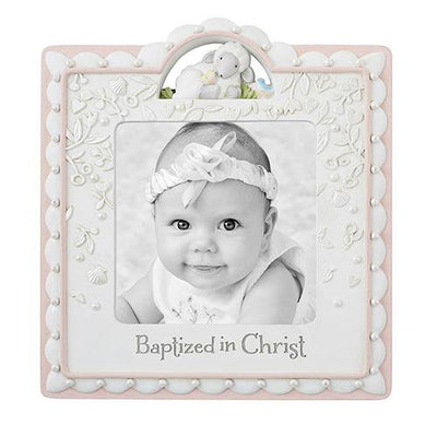 Baptized In Christ Photo Frame Pink