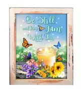 """Be Still I am with You"" Lighted Shadow Box (LED) - Unique Catholic Gifts"