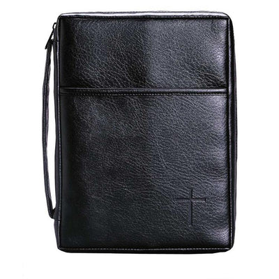 Black with  Cross Bible Case (XL)