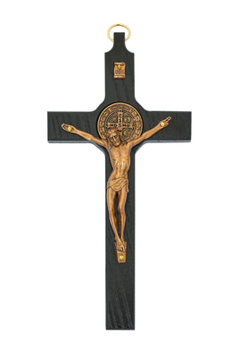 Black and Copper Benedict Wall Crucifix  8