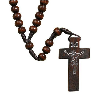 Knotted Cord Franciscan Wood Rosaries - Unique Catholic Gifts