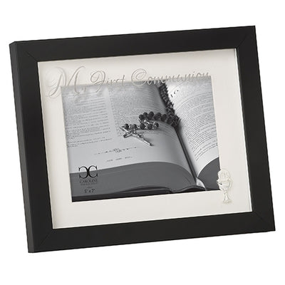 Brown with Glass First Communion Frame 8