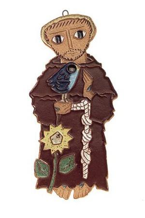 "St Francis of Assisi Ceramic Figure 9"" - Unique Catholic Gifts"