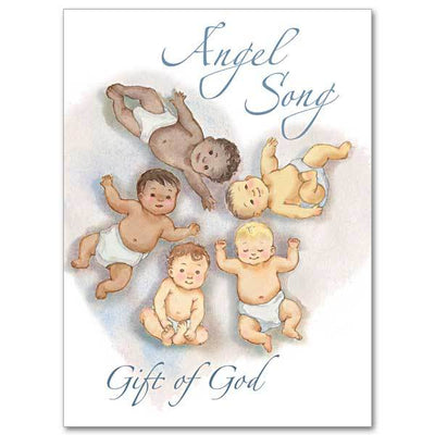Angel Song Gift of God Baby Congratulations Card ( 4.375 x 5.9375